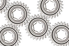 Cogwheels on white Royalty Free Stock Photography