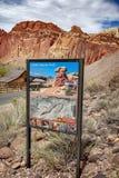 Cohab Canyon Trailhead. Stock Photo