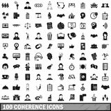 100 coherence icons set, simple style. 100 coherence icons set in simple style for any design vector illustration Stock Illustration