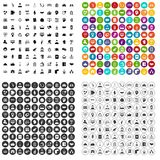 100 coherence icons set vector variant. 100 coherence icons set vector in 4 variant for any web design isolated on white Stock Images