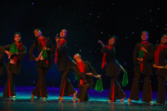 Cohesion of the heart-Jinggang Mountains-Chinese folk dance Royalty Free Stock Photography