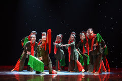 Cohesion of the heart-Jinggang Mountains-Chinese folk dance Royalty Free Stock Image