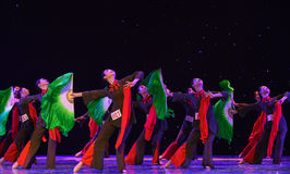 Cohesion of the heart-Jinggang Mountains-Chinese folk dance Royalty Free Stock Photos