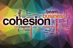 Cohesion word cloud with abstract background Stock Photo