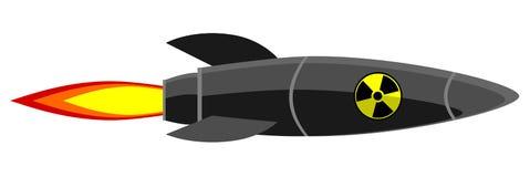 Cohete atómico de la historieta Imágenes de archivo libres de regalías