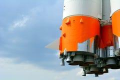 Cohete de espacio y el cielo Imagen de archivo