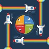 Cohete de Infographic Fotografía de archivo libre de regalías