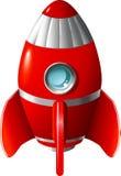Cohete de la historieta Imagenes de archivo