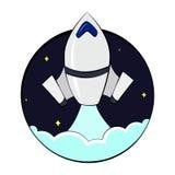 Cohete de lanzamiento Stock de ilustración