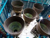Cohete de Saturn cinco de la primera fase Imagenes de archivo