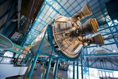 Cohete de Saturn V en Kennedy Space Center Foto de archivo libre de regalías