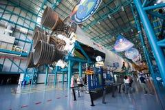 Cohete de Saturn V en Kennedy Space Center Imagenes de archivo