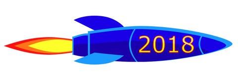 cohete del ` s del Año Nuevo 2018 Imágenes de archivo libres de regalías