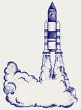 Cohete retro Imagenes de archivo