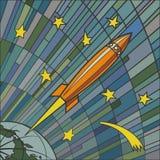 Cohete retro libre illustration