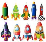 Cohetes coloridos Imagen de archivo