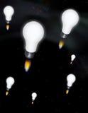 Cohetes de la idea Fotografía de archivo