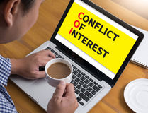 COI as CONFLICT OF INTEREST Royalty Free Stock Images
