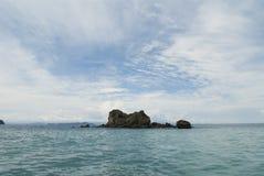 Coiba. Rocks formation near Coiba, Pacific Ocean - Panama Royalty Free Stock Photo