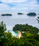 Coiba Island. From the top of the mountain (end of trail Stock Image