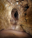 Coiba Mare cave in Romania. Inside of Coiba Mare cave in Apuseni mountains, Romania Royalty Free Stock Photo