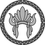Coiffe indienne indigène américaine Images libres de droits