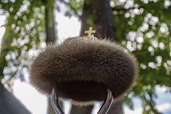 Coiffe royale avec la fourrure Images libres de droits