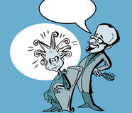 Coiffeur chistoso, estilo de la historieta imagen de archivo libre de regalías