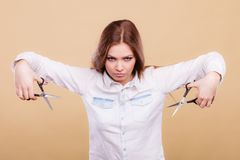 Coiffeur féminin passionné Photo libre de droits