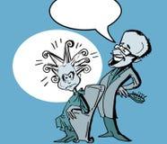 Coiffeur humoristique, style de bande dessinée image libre de droits