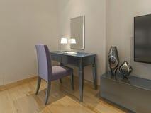 Coiffeuse moderne avec la chaise et le miroir illustration for Miroir dans la chambre
