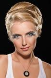 Coiffure для блондинкы перекиси Стоковые Фото