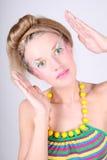 coiffure творческий составляет детенышей женщины Стоковые Изображения RF