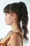 coiffure aftonkvinnan Arkivbilder