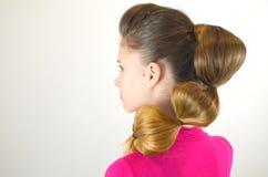 Coiffure avec de longs cheveux Photographie stock libre de droits