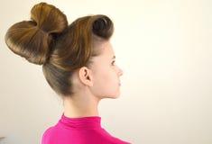 Coiffure avec de longs cheveux Image stock