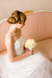 Coiffure de mariage Photographie stock