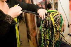 Coiffure della donna. Fotografia Stock