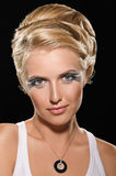 Coiffure for peroxide blonde Stock Photos
