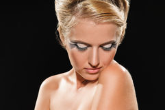 Coiffure for peroxide blonde Royalty Free Stock Images