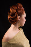 Coiffure professionnelle. Photos stock