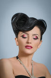 Coiffure quiff Stock Photography