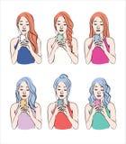 coiffures Images libres de droits