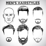 Coiffures d'hommes illustration stock
