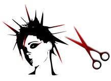 Coiffures de punk de femme illustration de vecteur