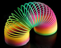 Coil. Colorful coil on a black background Royalty Free Stock Photo