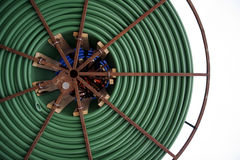 Coil. Of underground electrical conduit Stock Image