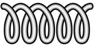 Coil. Art illustration in black and white: a coil Royalty Free Stock Images