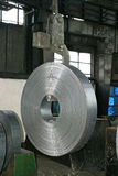 Coil. A roll of zinc coil in a factory Royalty Free Stock Photo