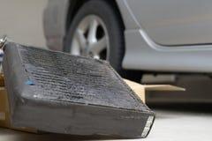 Coil air condition automobile car damage fix bacteria Stock Image